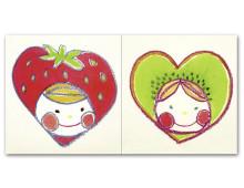 ペアぽち イチゴ&キウイ
