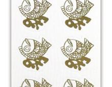 飾り紙シール 寿